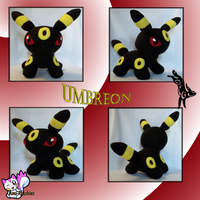 Umbreon Plushie :Sold: by Ami-Plushies