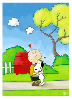 Peanuts Fanart: Friends forever! by thintoons