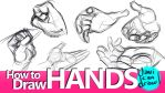 How to Draw Hands - A Youtube Tutorial by javicandraw