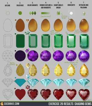 Exercise 26 Results: Shading Gems Step by Step by CGCookie