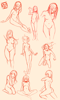 Female Pose Study by Fishiebug