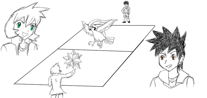 Misty Vs. Blue: Gym Leader Battle SS by Eveeevee