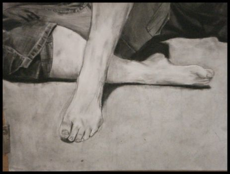 Leg and Foot Study by Veronica-Dominique