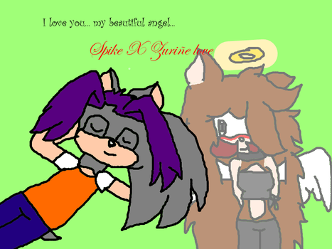 I love you... my beautiful angel...Spike X Z.T. by Zuri2000Thunder