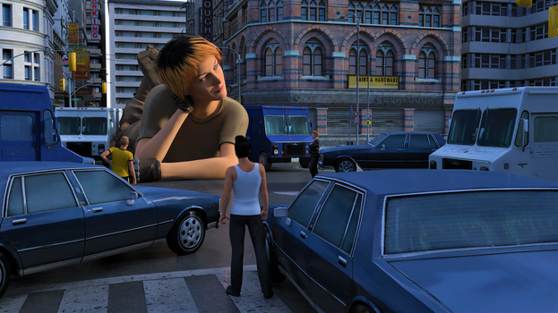 Traffic Jam by 3D-Giantess-Studios