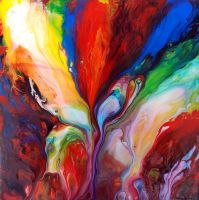 Abstract Fluid Painting 49 by Mark-Chadwick