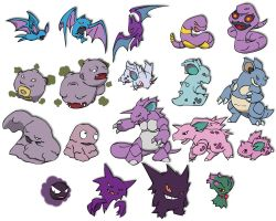 Poison and Ghost Pokemon