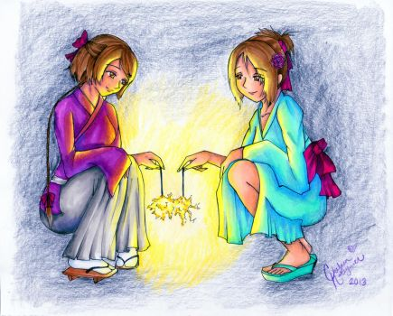 sharing your light by Angels-Little-Chii