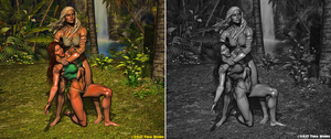 Jungle Training 8 - Color vs Black and White by TNoire
