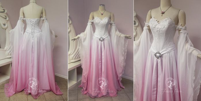 Sakura Elven Bridal Gown by Firefly-Path