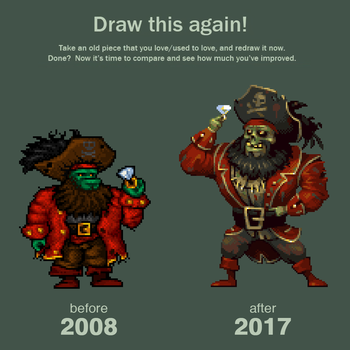 Draw this again - Zombie Pirate LeChuck by JINNdev