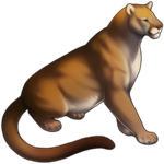 Red Mountain Lion Companion by TokoTime