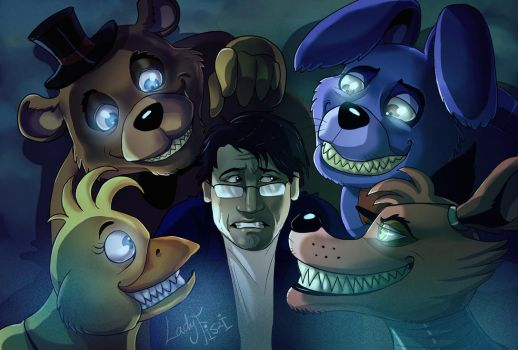 Markiplier in Random Encounter's FNAF Musical by LadyFiszi