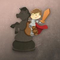 Chess Knight FROGandTOAD by FROG-and-TOAD