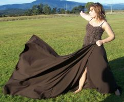 Brown Dress - Movement - 09 by Gracies-Stock