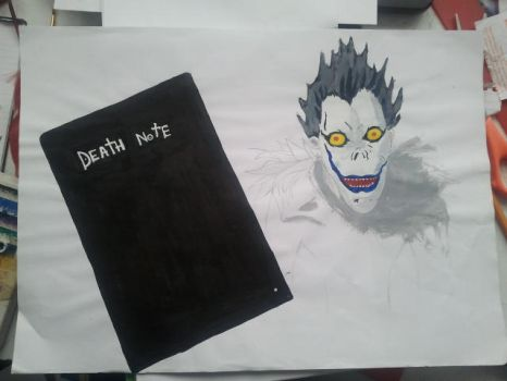 Ryuk poster (uncomplete) by Mudley