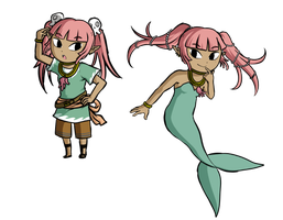 Coral: Pirate and Siren by Icy-Snowflakes