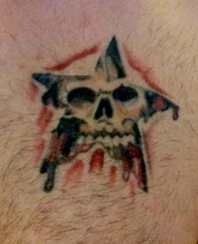 Skull star tattoo by Jayluke2006