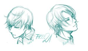 21!Haru and 21!Rin by NicoleIsCrazy