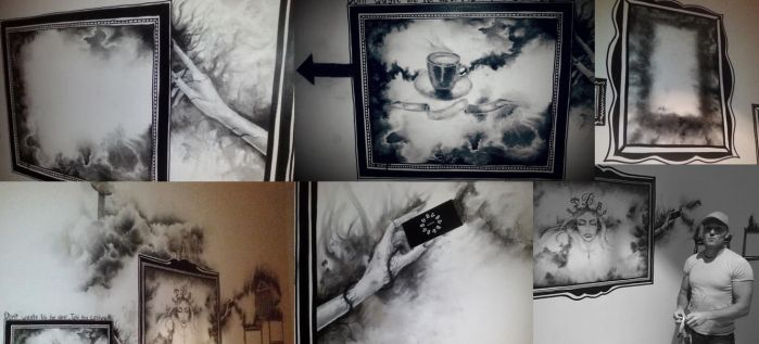 Coal drawings on wall 05/06/17 by Nobert-Stanel