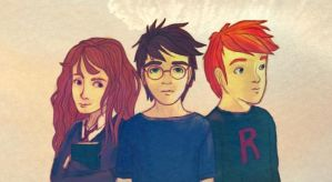 Harry Potter - The Young Trio by azile-azure