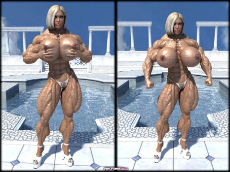 Muscle barbie megan avalon is a sexy show off 6