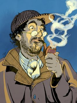 CARE-icatures - Majed as Sherlock Holmes by BalanComics