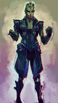 Drell Armour Concept by TheBoyofCheese