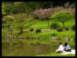 Japanese Garden 6 Two Girls by AmethystUnderwood