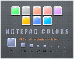 Notepad Icons: Colors by RudeBoySes