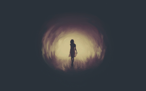The Girl at the start of the tunnel. by FionnT