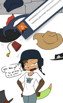 Ask the Characters 14: more hats by Sandwich-Anomaly