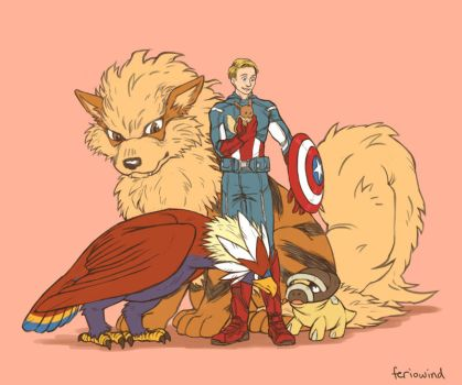 AVENGERS+PKMN - justice by FerioWind