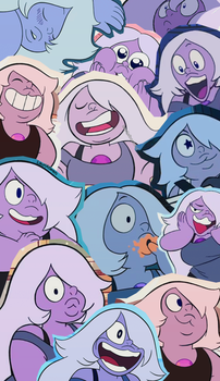 Amethyst / Amatista tumblr collage wallpaper by LauriAtweh