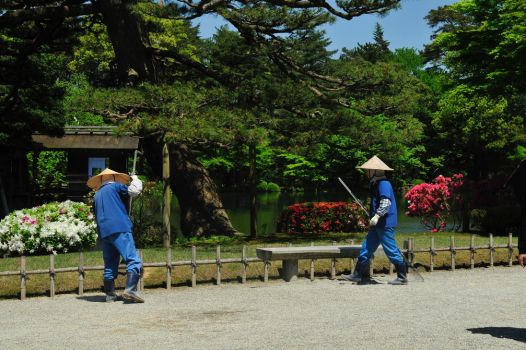 Kenrokuen Groundskeepers by AndySerrano