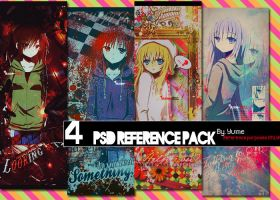 4 PSD references - Featuring GirlDeMo by Yume-in-Wonderland