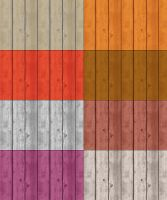 Tileable Wood Texture with 8 Colors by elemis