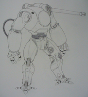 Medium Piont Defence Mech by Angryspacecrab