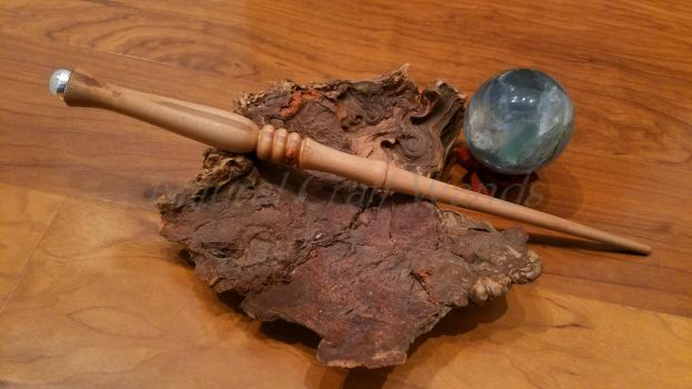 Pacific Madrone Wand With Silver and Moonstone by NaturalCraftWands