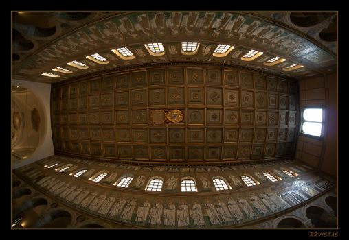 Interior Church Roof in Ravena by RRVISTAS