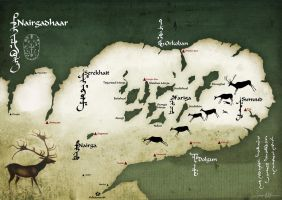 Fantasy map of Nairgadhaar by taivaansusi
