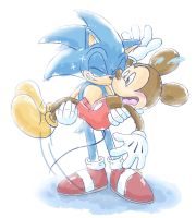 Sonic and Mickey by Ahyuck