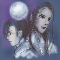 [To The Moon]Eva and Neil by Athena-Erocith