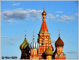 Domes of the Saint Basil's Cathedral by Esse-light