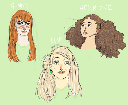 Harry Potter girls :DOODLE: by NerinaSam