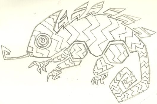 Tribal Chameleon by Shadow-Pine
