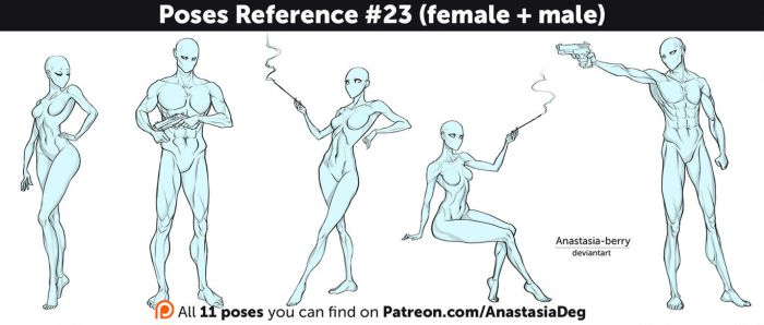 Poses Reference #23 (female + male) by Anastasia-berry