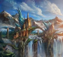 OSMADTH - Lost City of Asen by flaviobolla