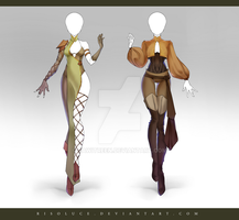 (CLOSED) Adoptable Outfit Auction 203-204 by JawitReen