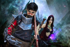 Hawke and Morrigan by lordwosh